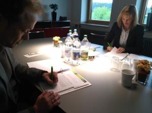 Sabine Kubitza (BGW) und Norbert Eilers (Wohnprojekt5)